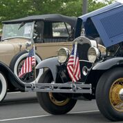 some patriotic car